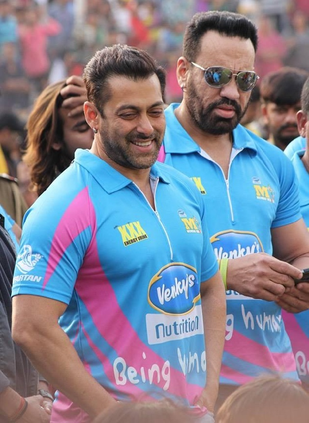 Salman Khan at Celebrity Cricket League Match in Ahmedabad