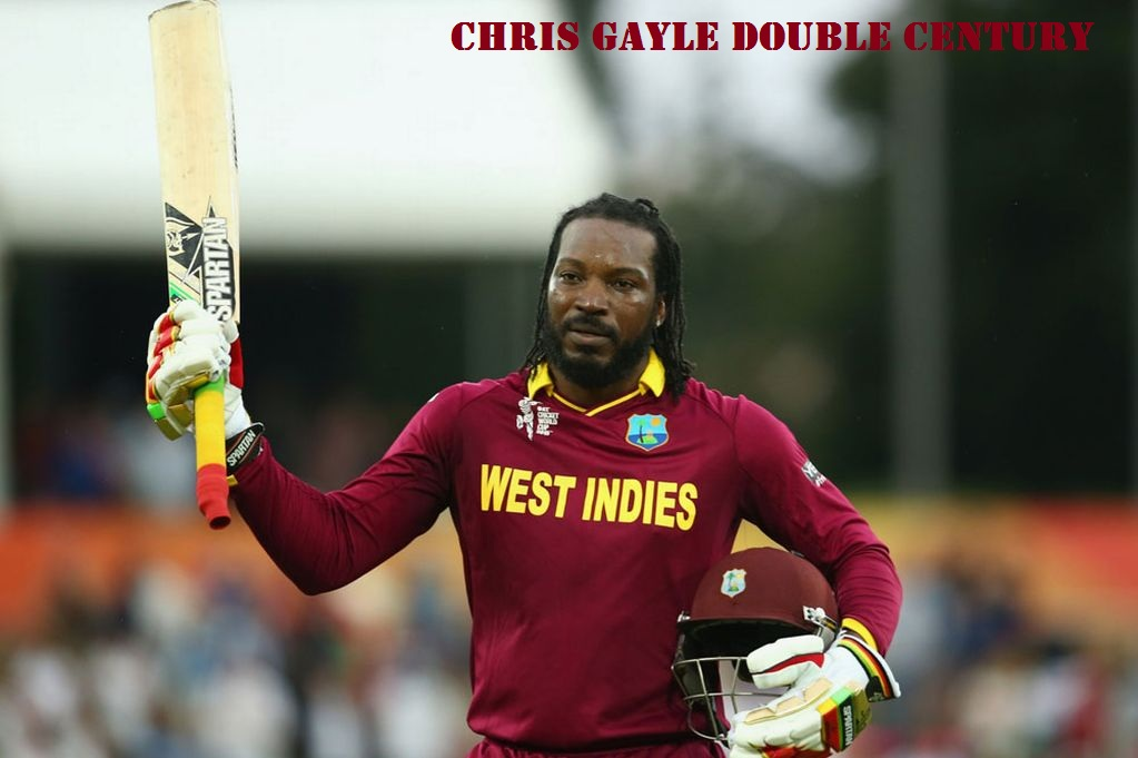 Chris Gayle Double Century Photo
